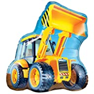 Qualatex Construction Loader Jumbo Foil Balloon Party Accessory 32