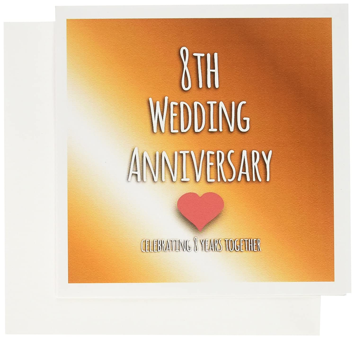 3drose 8th Wedding Anniversary Gift Bronze Celebrating 8 Years Together Eighth Anniversaries Greeting Cards 6 X 6 Inches Set Of 6 Gc 154439 1 Amazon In Office Products
