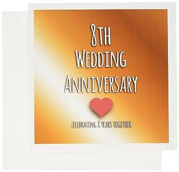 Amazon.com : 3dRose 8th Wedding Anniversary gift - Bronze ...