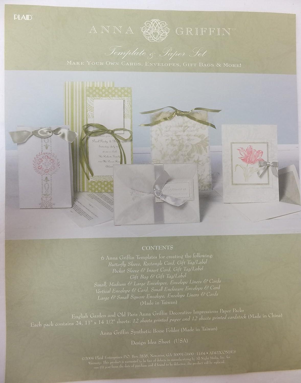 Amazon.com: Anna Griffin Decorative Impressions Template Set: Arts ...