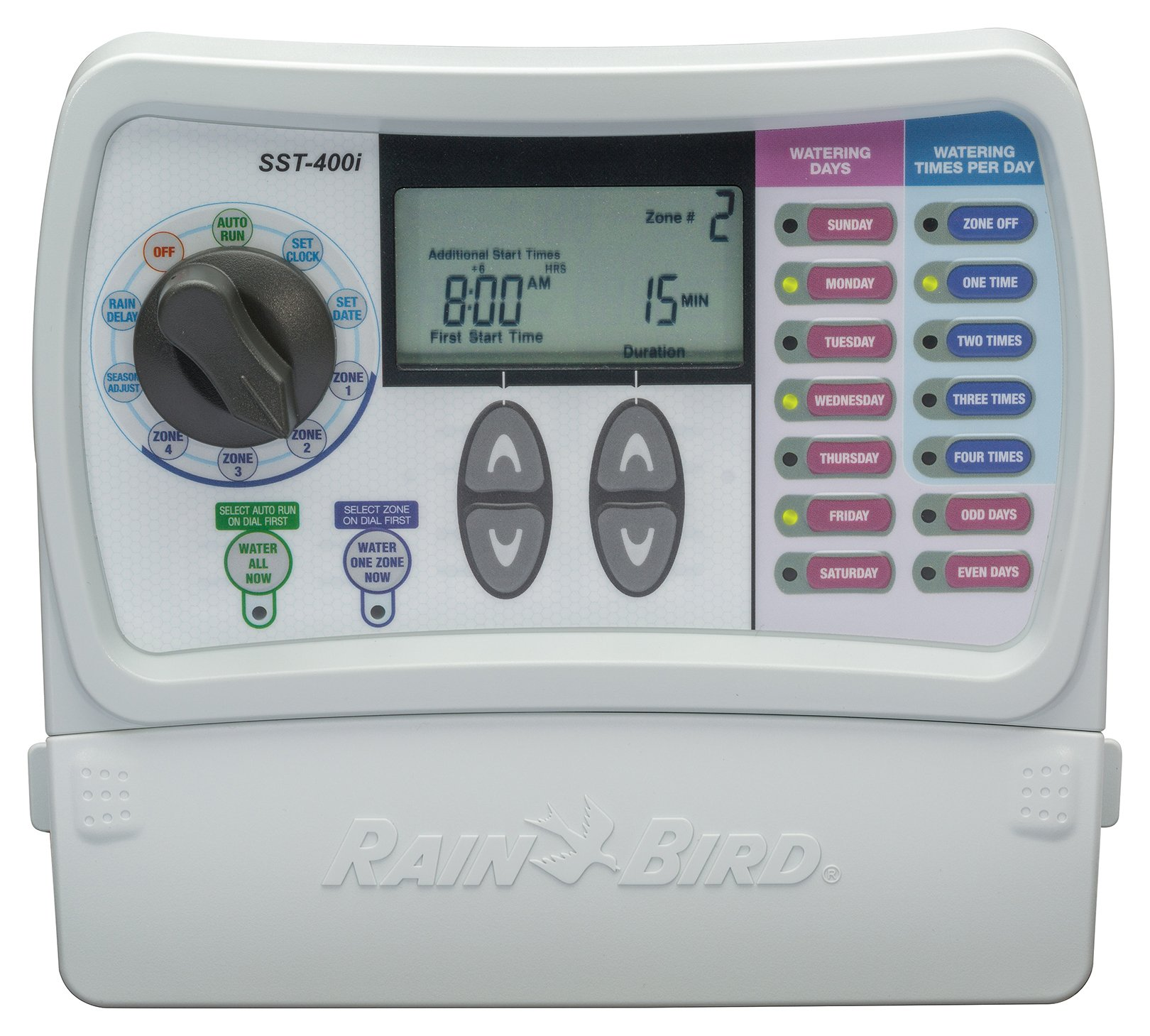 Rain Bird SST400I Simple To Set Indoor Timer, 4-Zone (Discontinued by Manufacturer; replaced by SST400IN)