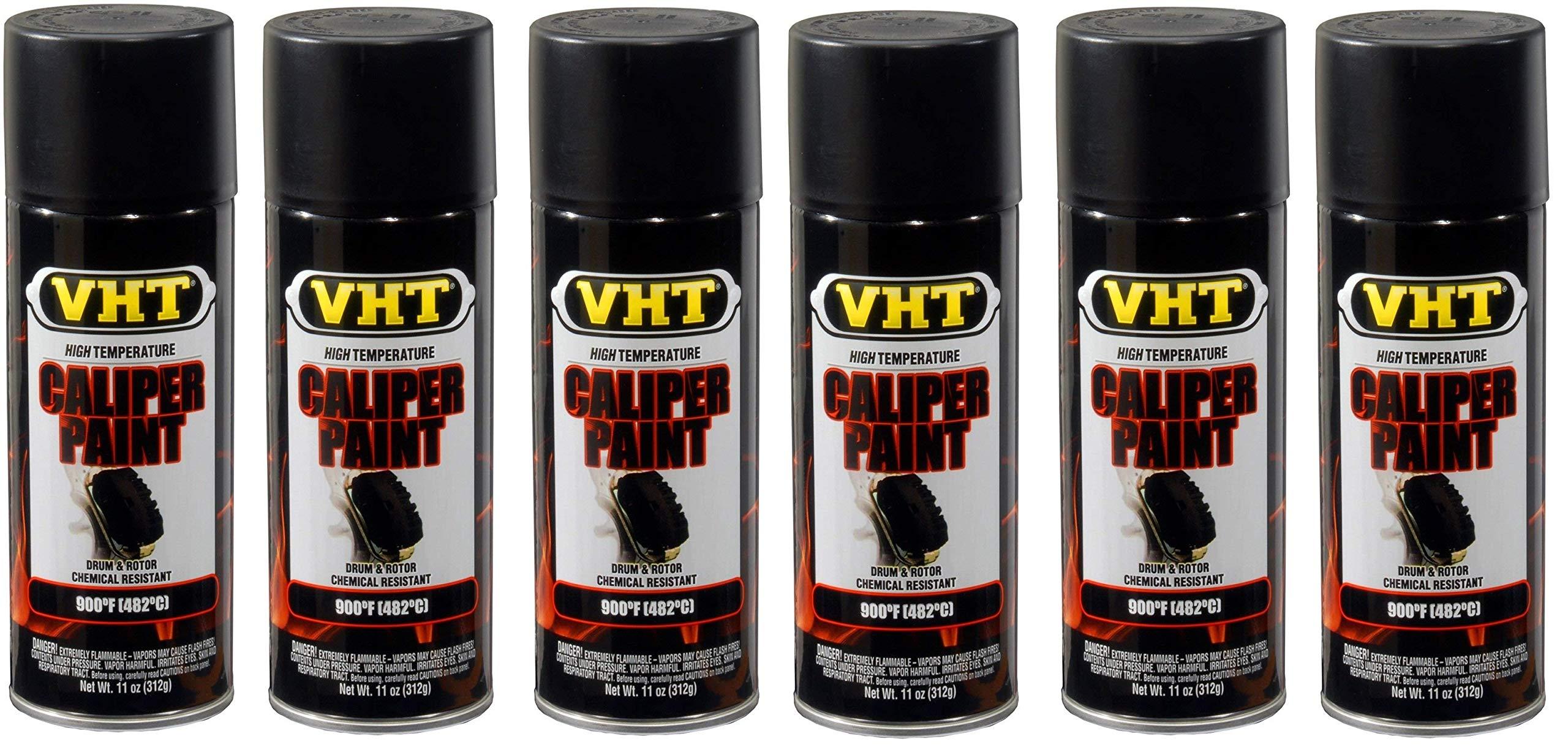 VHT  SP739 Satin Black Brake Caliper Paint Can - 11 oz. (6)