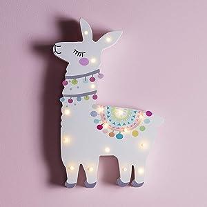 Lights4fun, Inc. Llama Battery Operated LED Bedroom Wall Night Light