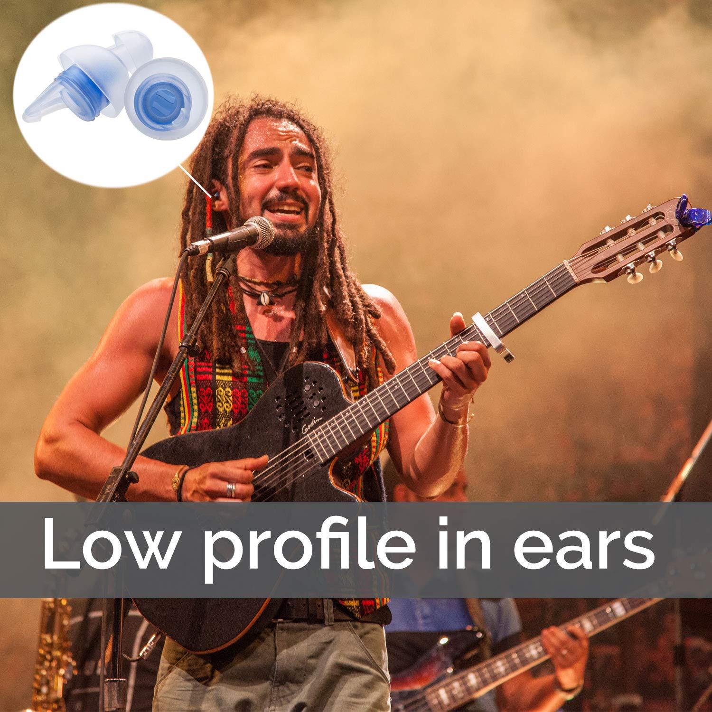 Bouchons dOreille Antibruit Professionnels MusicSafe Classic Bouchons dOreille de Protection Auditive CybGene Bouchons dOreille Haute-Fid/élit/é R/éutilisables