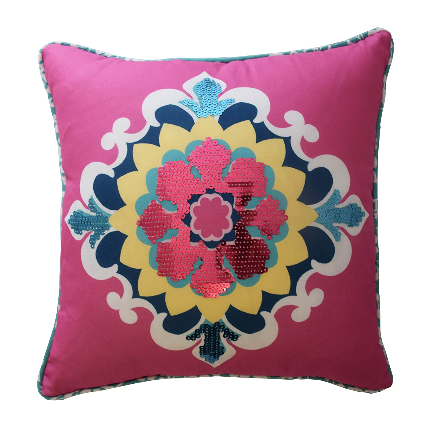 Waverly Kids 16438015X015MUL Bollywood 15-Inch by 15-inch Sequin Decorative Accessory Pillow, Multi Ellery Homestyles