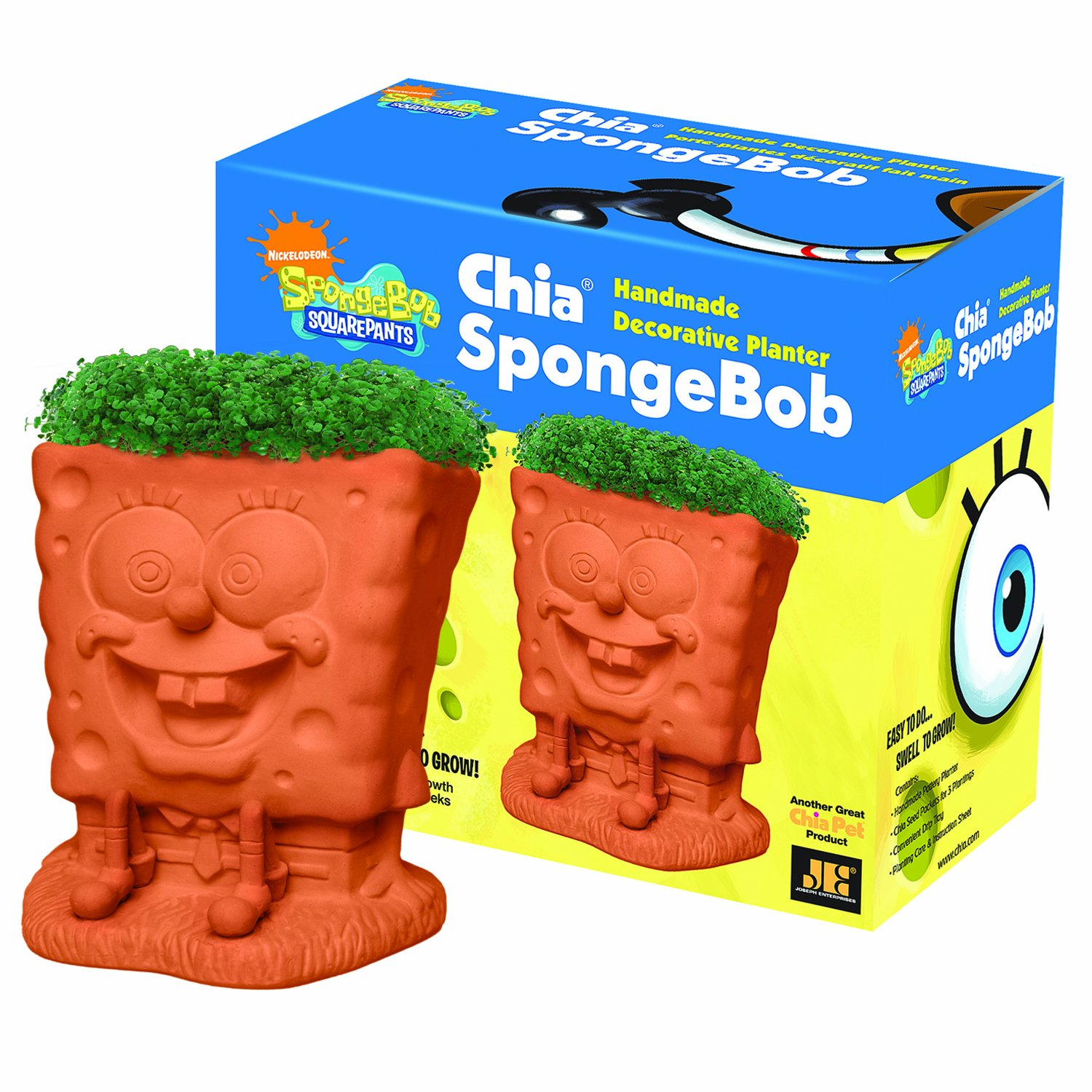 Chia SpongeBob Handmade Decorative Planter by Chia