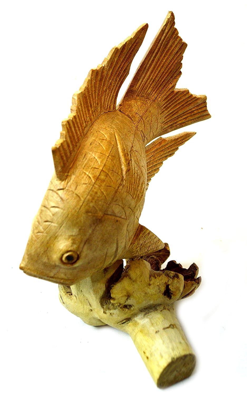 Amazon.com: Hand Carved Koi Gold Fish Parasite Mushroom Drift Wood ...