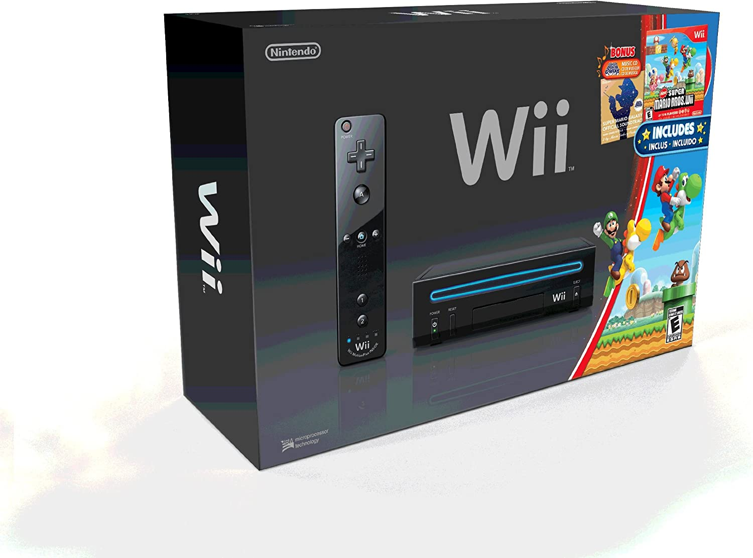 Amazon.com: Wii Black Console with New Super Mario Brothers ...