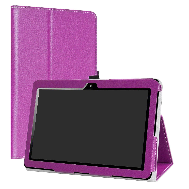 LiuShan MediaPad T3 10 Funda Folio Soporte PU Cuero con Funda Caso para 10.1 Huawei MediaPad T3 10 Android Tablet,P/úrpura