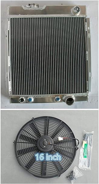 1964 1965 1966 Ford Mustang 3 Row DR Radiator V8 Conversion Aluminum Radiator
