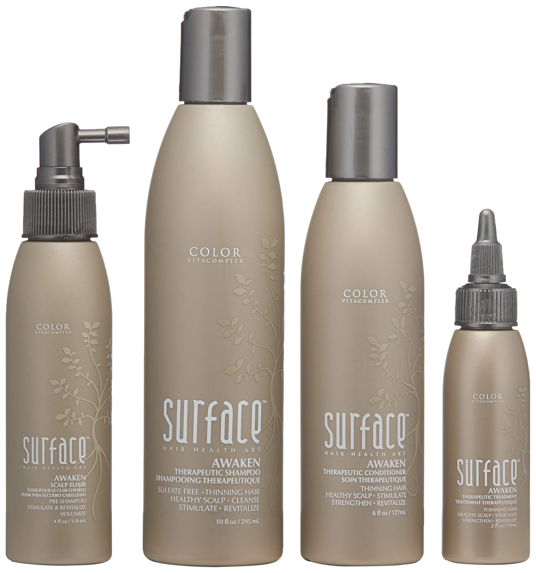 Surface Hair Awaken Advanced Therapeutic Treatment System, Thinning Hair Box Set by Surface Hair