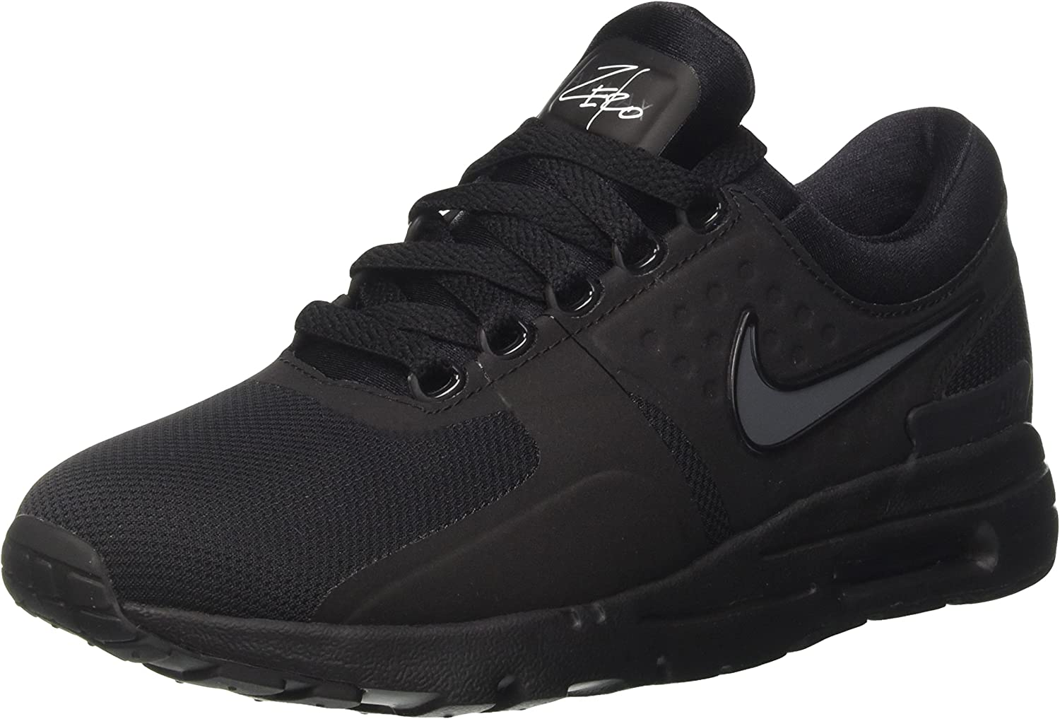 Nike Womens Air Max Zero Black Black Dark Grey White Running Shoe 6.5 Women US