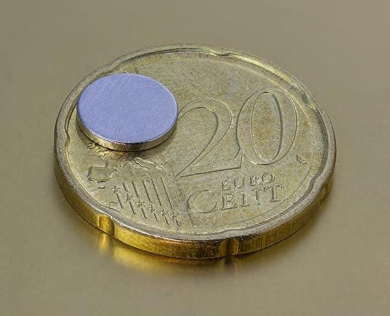 5 x 4 mm Oblique-Unique/® 100 aimants en n/éodyme ronds