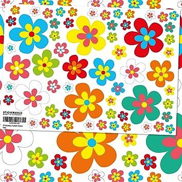 Sticker Deco Autocollant Vinyle Adhesif Fleur Hippie