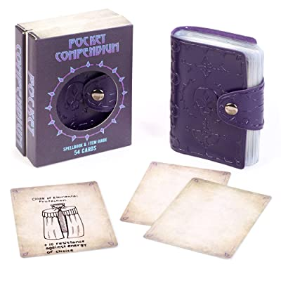 Pocket Compendium: Tome of Dread - Customizable RPG Item, Spellbook, & Reference Card Holder - Tabletop Fantasy Game Beginner Accessory - Includes 54 Custom Blank Poker-Size Player Cards: Toys & Games