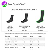 MadSportsStuff Crazy Socks with Lightning Bolts
