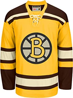 Reebok Boston Bruins CCM NHL Vintage Premier Yellow Jersey Maillot