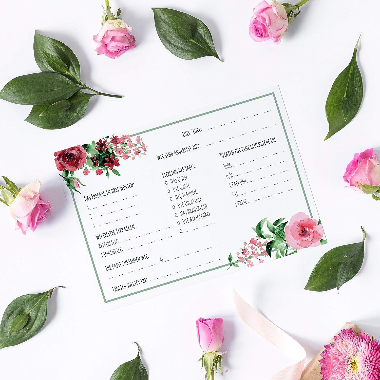 Gästebuch Karten zum Ausfüllen