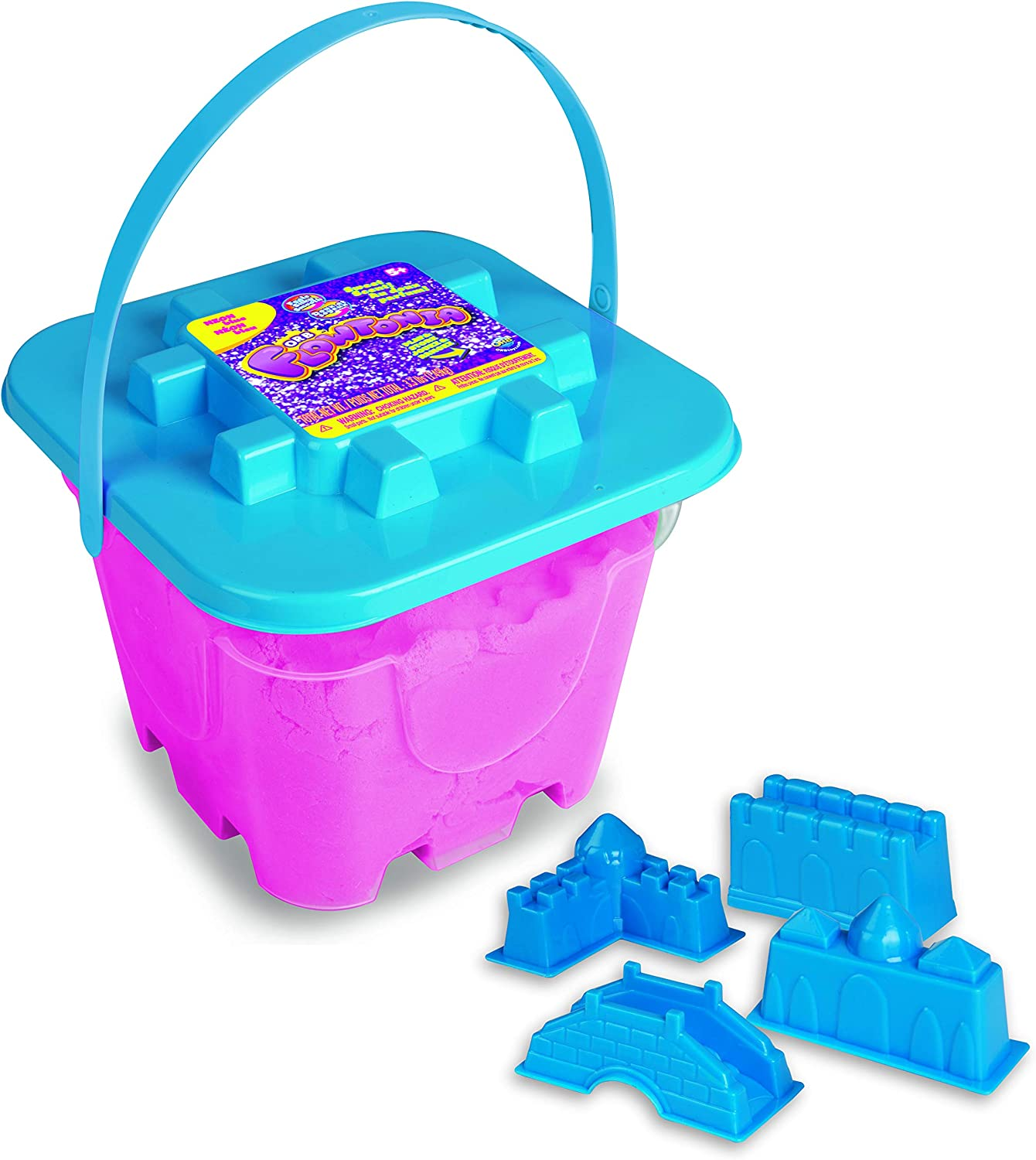 Orb Flowtonia Play Bucket Stretchy Free Flowing Fun 1.5 lbs of Tactile Blue Moldable