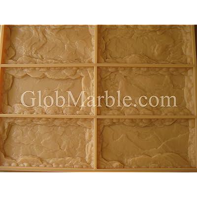 GlobMarble Concrete Mold Limestone Mold LS 1111/1. Rubber : Garden & Outdoor
