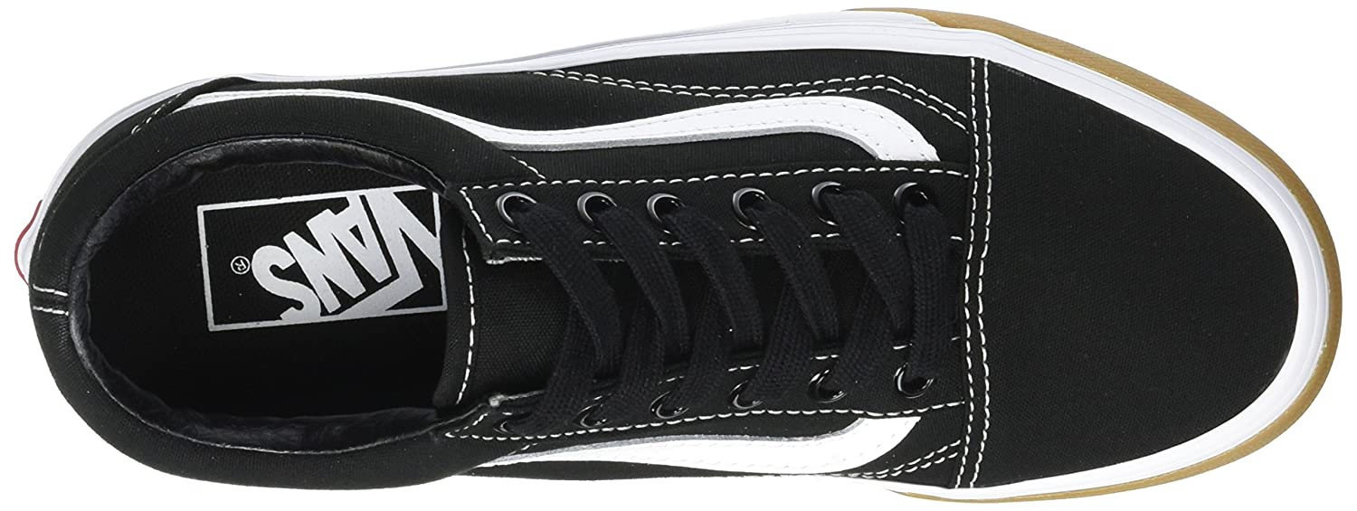 Vans Unisex Old Skool Classic Skate Shoes B06Y5WT2YP 6 UK|gum bumper black / true white