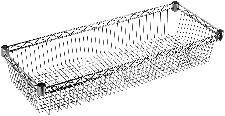 ARCHIMEDE Sistema Componibile Ripiano Contenitore, Metallo, Cromato, 61 x 36 x 15 cm Serena Group BASK3560