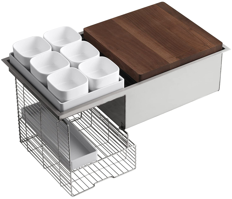 KOHLER K 3760 NA Stages 33 Inch Stainless Steel Kitchen Sink