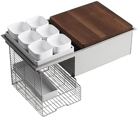 KOHLER K-3760-NA Stages 33-Inch Stainless Steel Kitchen Sink ...