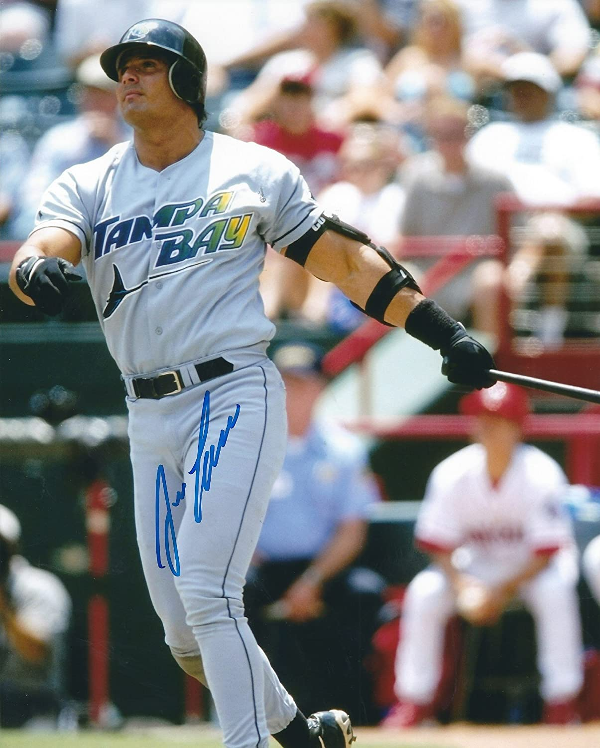 Autographed Jose Canseco 8X10 Tampa Bay Rays Photo