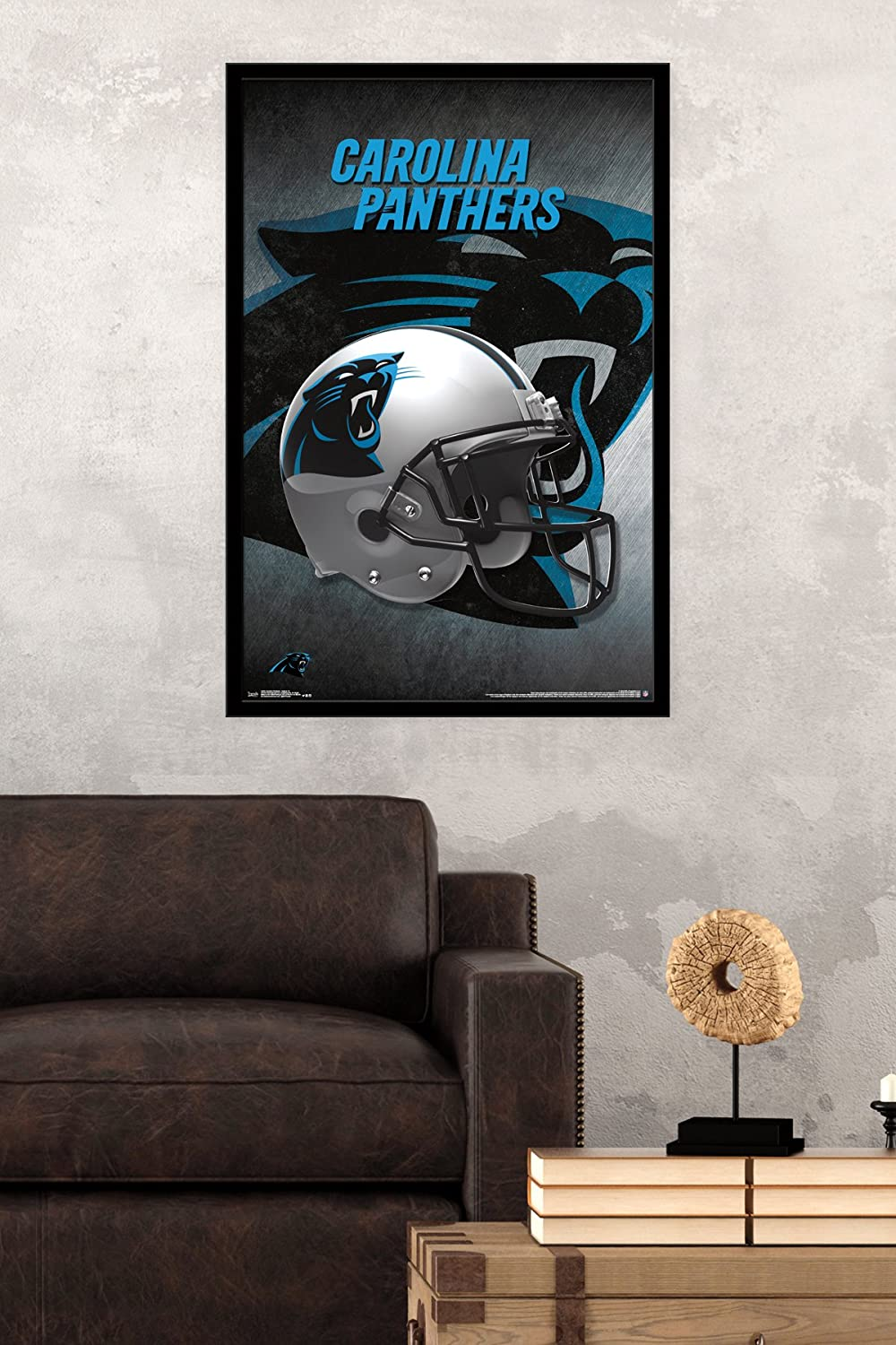 """Carolina Panthers Helmet 16 Poster Wall Art by Trends 23/"""" x 34/"""""""