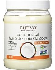 Nutiva Organic, Steam Refined Coconut Oil from Non-GMO, Sustainably Farmed Coconuts, 1.6 Liters