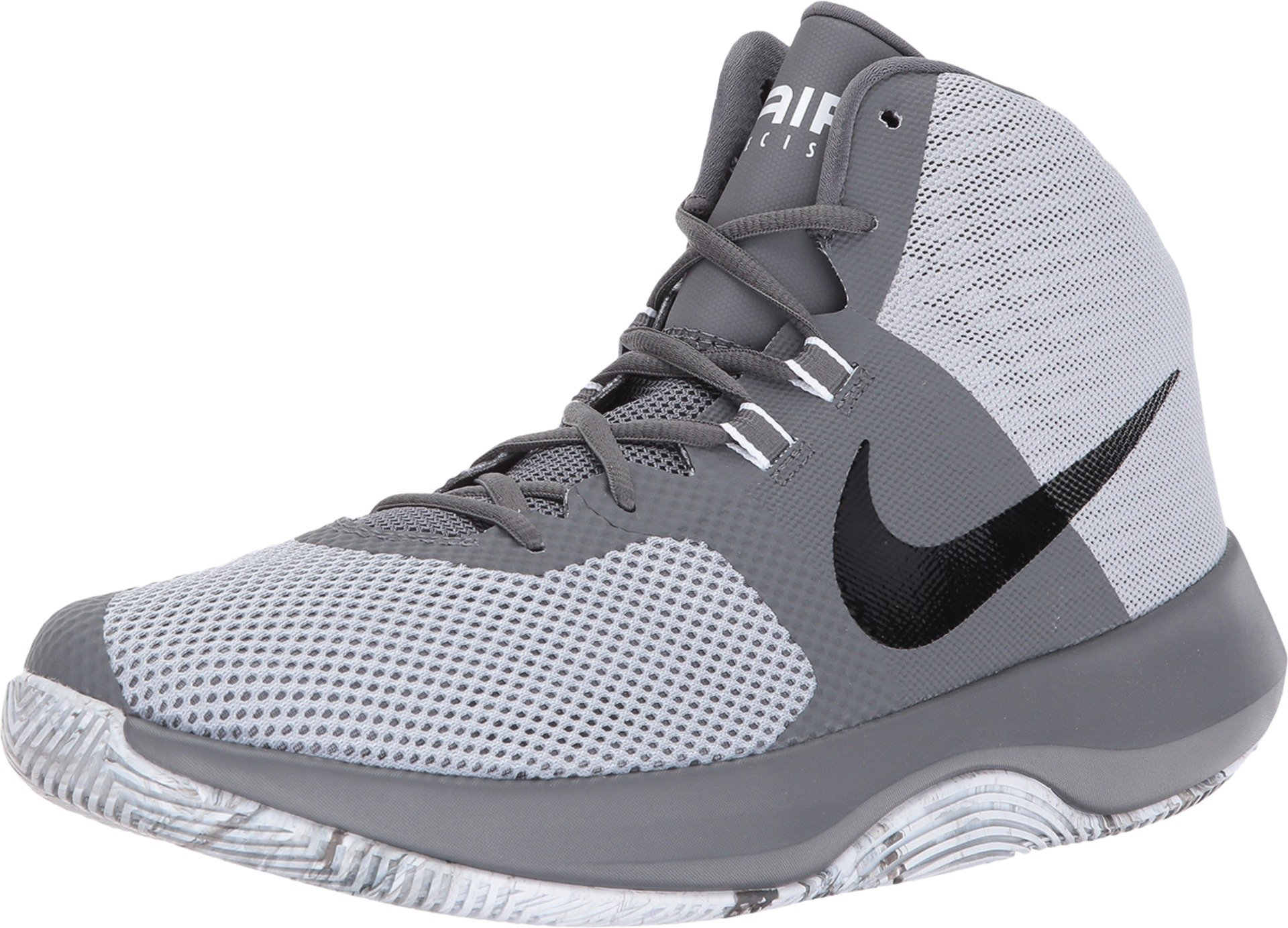 Nike Men's Air Precision Basketball Shoes (7.5, Wolf Grey/Black-M)