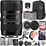 Sigma 18-35mm F1.8 Art DC HSM Lens for Nikon DSLR Cameras + Sigma USB Dock with Altura Photo Advanced Accessory and…