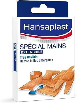 Hansaplast Caja de 20 tiritas especiales para las manos, 4 tamaños: Amazon.es: Salud y cuidado personal