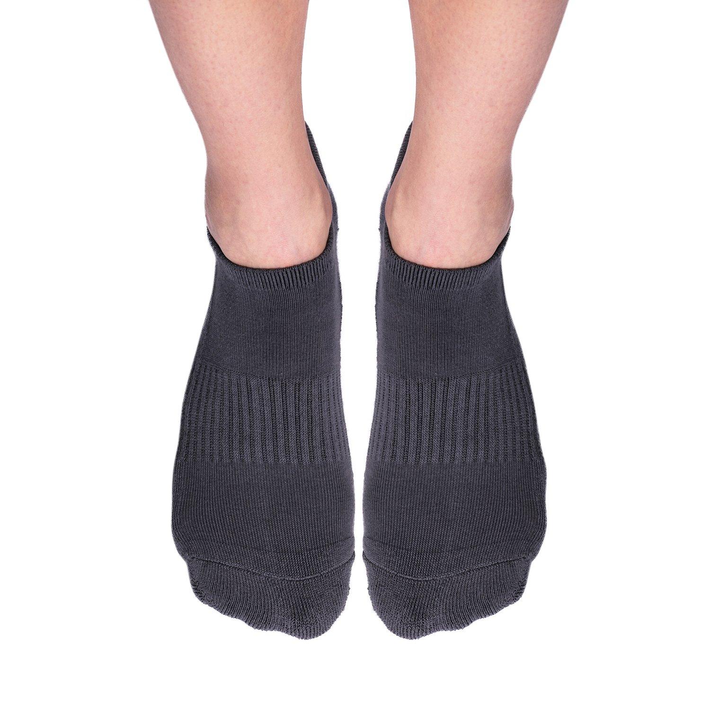 Non Slip Non Skid Socks for Women and Men 4 Pack Pilates Yoga Grip Socks
