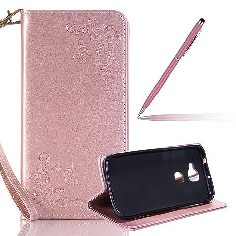 Funda Huawei G8,Huawei G8 Carcasa,Felfy Color Sólido Rose ...