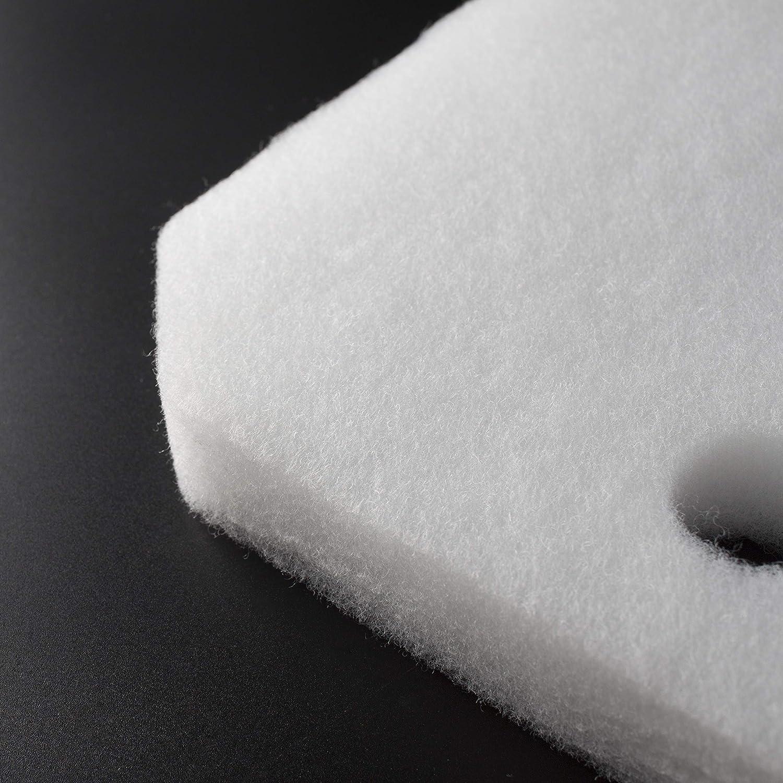 12 piezas Sin Marca Estera de filtro Esponja de filtrado fina de color blanco de reemplazo para Eheim 2616265 Professional Pro 2 2226//2326// 2026//2128 y Experience 350