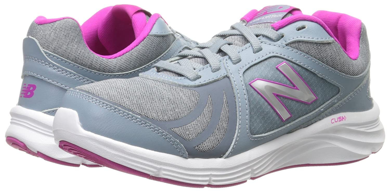 New Balance Women's WW496V3 Walking Shoe-W CUSH + Walking Shoe B012H02GKM 8.5 B(M) US|Grey/Pink