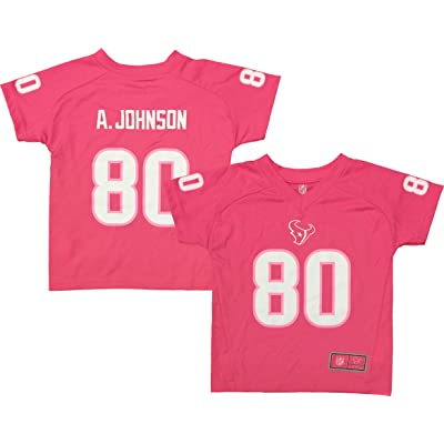 best cheap 76407 2ee8c Andre Johnson Houston Texans Pink Performance Fashion Kids ...