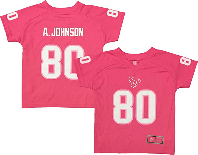 separation shoes 3febd 8f030 Amazon.com: Andre Johnson Houston Texans Pink Performance ...