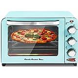 "Elite Gourmet Americana ERO-2600XBL Fits 12"" Pizza Vintage Diner 50's Retro Countertop Toaster oven Bake, Broil, Toast…"