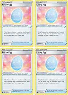 product image for Pokemon Card - Lucky Egg - Sword and Shield Base - x4 Card Lot Playset - 167/202 Uncommon