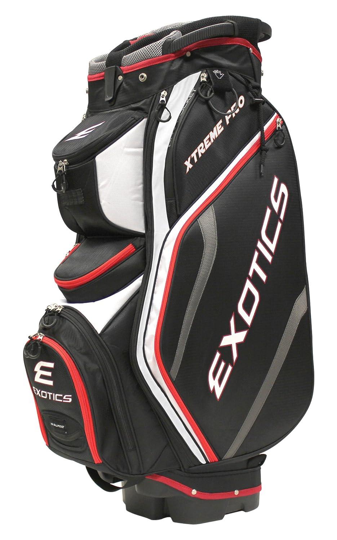 ツアーエッジゴルフExotics Xtreme Proデラックスカートバッグ B01BTBDK7S ブラック/ホワイト/レッド ブラック/ホワイト/レッド