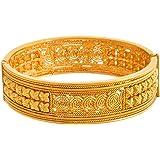 JFL - Traditional Ethnic One Gram Gold Plated Openable Kada for Women & Girls.