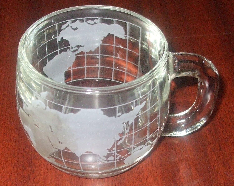 Nestle Nescafe lot of 36 glass world globe map coffee mugs cups