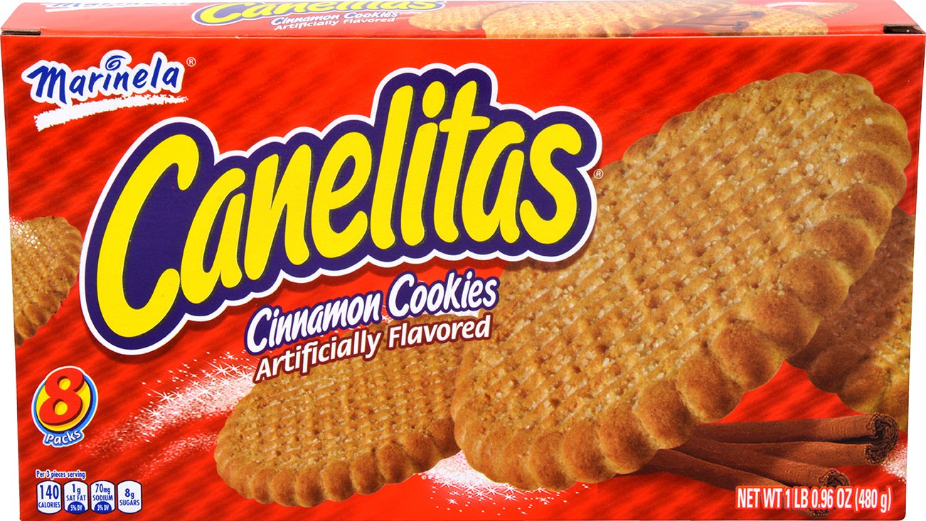 Marinela Canelita En Caja Cinnamon Cookies Box, 16.96 oz