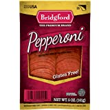 Bridgford Sliced Pepperoni, Gluten Free, Made in the USA, 5 Oz, Pack of 3