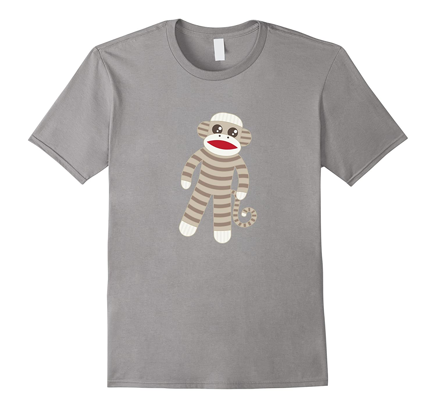 Cute Classic Striped Sock Monkey T-Shirt-T-Shirt