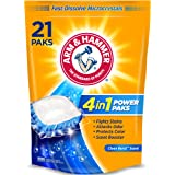 Arm & Hammer 4-in-1 Laundry Detergent Power Paks, 21 Count (Packaging may vary)