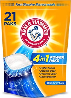 product image for Arm & Hammer 4-in-1 Laundry Detergent Power Paks, 21 Count (Packaging may vary)